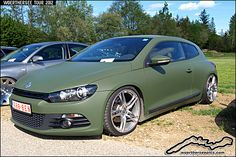 Satin Green VW Scirocco