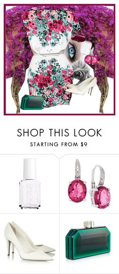 """Floral"" by gabi-girl ❤ liked on Polyvore featuring Essie, Urban Decay, Elie Saab and Tamara Mellon"