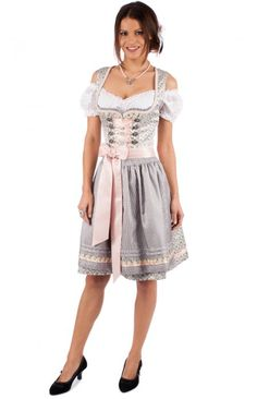 Midi Dirndl 2pcs. 43576-43 light gray 60cm
