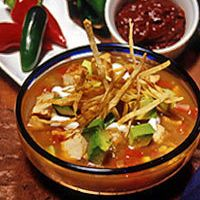 Houston's Tortilla Soup. This is the best stuff ever! I hope it tastes like houstons recipe!