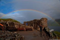 Rainbow over Urqhart Castle and Loch Ness, Scotland