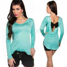 #CAMISETA #HOLGADA #ESCOTE #ESPALDA #Mujer #mangalarga con #llamativo #estilo #casual #escote #cascada con #lazo en la #espalda #disponible en #llamativos #colores que podrás #combinar con todo tu #armario dando un #efecto #sofisticado y #sexy a tu #look #diario. Encuentralo en #Moda #Tops y #Camisetas para #myjeres de www.agiltienda.com #online #shop #sexy #fashion #buy #lowcots #price @agiltienda.es