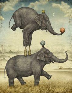 Ilustraciones para cuentos inconclusos by Julian De Narvaez, via Behance