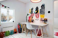 scrivania con cavalletti + sedia eames ♥