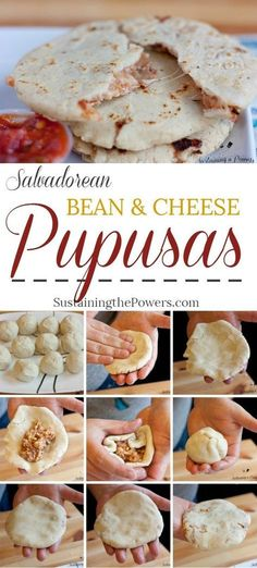 How to Make Salvadorean Bean and Cheese Pupusas Pupusas are pillowy corn tortillas stuffed with beans and cheese. They're super cheap, fun and quick to make and naturally gluten-free. Click through to learn how to make them with a recipe + quick video Comida Latina, Salvadorian Food, Yummy Food, Tasty, Yummy Veggie, Comfort Food, Mexican Dishes, Mexican Desserts, Tortilla Wraps