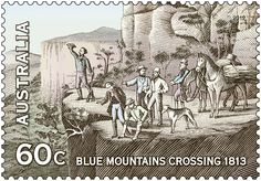 In 2013 it will be 200 years since Gregory Blaxland, William Lawson and William Charles Wentworth crossed the Blue Mountains.  AusPost #stamps  http://auspo.st/SJdCLk