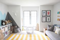 » I SPY DIY DESIGN | Kid's Colorful Camp Playroom