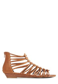The gladiator trend continues it's fashionable reign with Ingrid. l  JustFab