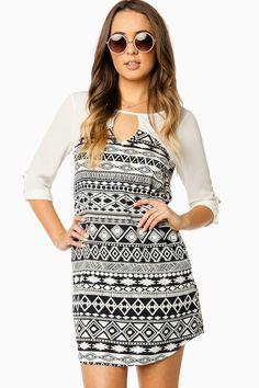 Adyna Shift Dress in Navy / ShopSosie #shopsosie #sosie