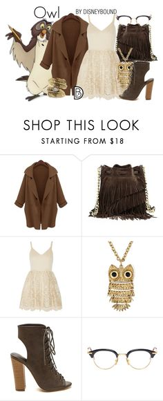 """""""Owl"""" by leslieakay ❤ liked on Polyvore featuring Elizabeth and James, Alice + Olivia, Arizona, Thom Browne, Natalie B, women's clothing, women, female, woman and misses"""