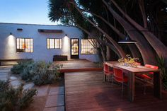 Modern Spanish colonial; decking