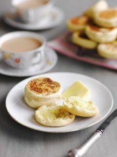 48 Ideas For Breakfast English Jamie Oliver English Muffin Recipes, English Muffin Bread, Bread Recipes, Baking Recipes, Snack Recipes, Healthy Recipes, Nigella, Naan, Bread Dough Recipe