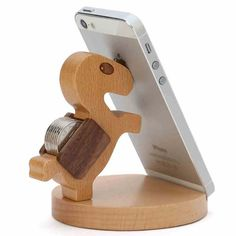 Original Chuxin Lovely Wooden Pony Stand Holder For Cellphone