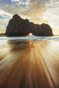 Pfeiffer Beach sunset - )