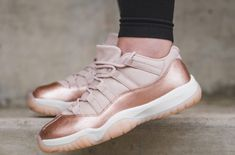 7426f4123e33a5 Available Now  Air Jordan 11 Low WMNS Rose Gold