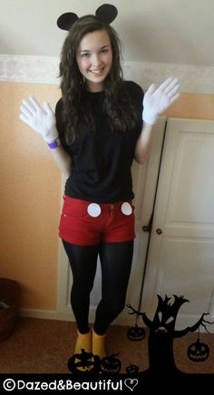 DIY Mickey Mouse Costume DIY Mickey Mouse Costume Mickey Mouse Costume @  sc 1 st  Pinterest & 40 best Holiday Ideas images on Pinterest | Carnivals Halloween ...