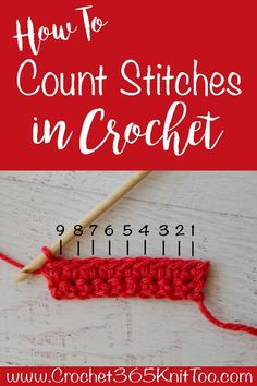 To Count Stitches In Crochet Great tutorial on how to count crochet stitches!Great tutorial on how to count crochet stitches! Crochet Stitches For Beginners, Beginner Crochet Tutorial, Crochet Instructions, Crochet Stitches Patterns, Crochet Basics, Knit Stitches, Crochet Tutorials, Crochet Ideas, Crocheting For Beginners Tutorial
