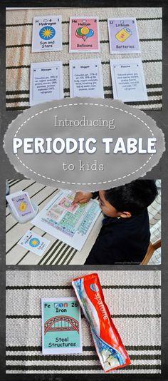 Introducing periodic table to kids #preschool #kindergarten #homeschool
