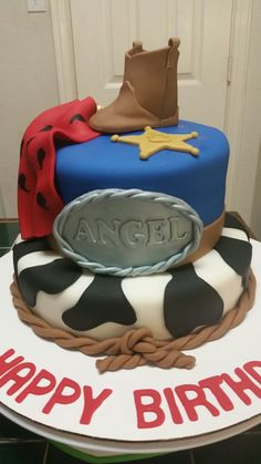 Amy's Crazy Cakes - Cowgirl Themed Birthday Cake