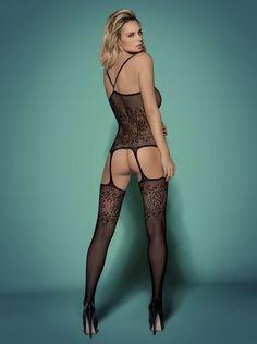 55,90 PLN | Bodystocking F218 Black - Obsessive #SexyLingerie #SL #bieliznaerotyczna #bielizna #bodystocking #seksowna #erotyczna #bieliznanocna #lingerie #eroticlingerie #sexy #erotic #sexygirls #sexywomen #black #Obsessive | Bodystocking w sklepie z bielizną erotyczną SexyLingerie.pl |