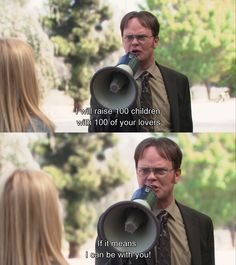 The Office season 9 Angela and Dwight. LOVE Dwight so much♥ The Office Season 9, The Office Show, The Office Dwight, Dwight And Angela, Jim Pam, Office Memes, Funny Office, Office Quotes, Michael Scott
