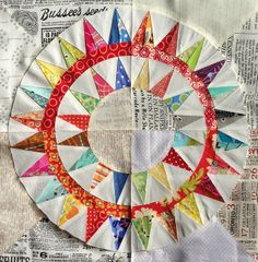 A pillow front I MUST make-A Scrappy Texty New York Beauty Affair by Fiona @ Poppy Makes, via Flickr
