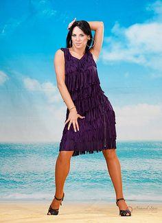 Natural Spin Signature Latin Dance Dresses:  LD05_PURPLE