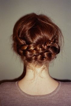 auburn braid.