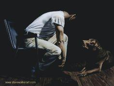 """""""Dog Best Friend"""" - Painting by Steve Walker - Canadian Dog Best Friend, Best Friends, Male Body Art, Walker Art, Devon And Cornwall, Childhood Memories, Art Gallery, Artist, Painting"""