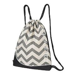 357f50aa22 Amazon.com  Runetz - Chevron GRAY Gym Sack Bag Drawstring Backpack Sport  Bag for