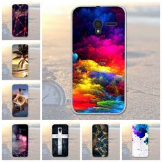 For ALCATEL One Touch pixi 3 4.5 inch 5017 5019 5019D Ultra Soft Silicone TPU Scenery Phone Case for ALCATEL 5017 5019 5019D