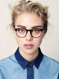 love a chambray button-up with glasses! http://www.creativeboysclub.com/