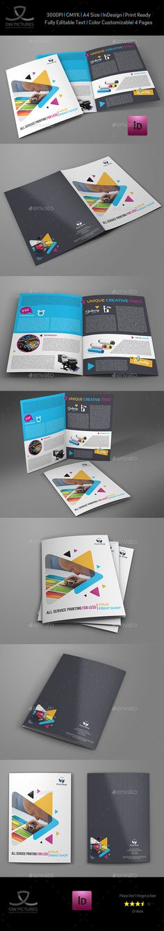 Print Shop Bi-Fold Brochure InDesign Template  • Only available here ➝ http://graphicriver.net/item/print-shop-bifold-brochure-template/16527920?ref=pxcr