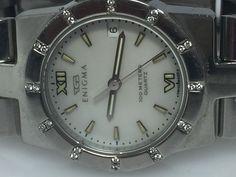 Gianni Bulgari Enigma S\S And Diamonds Ladies Watch Quartz Date 100M (N375) #GianniBulgari #LuxuryDressStyles