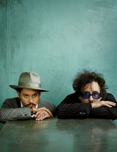 Tim Burton: I have this movie idea. Johnny Depp: Yes . The bizarre, brotherly bond between Johnny Depp and Tim Burton Film Tim Burton, Tim Burton Johnny Depp, Here's Johnny, Estilo Tim Burton, Johny Depp, Helena Bonham Carter, Martin Scorsese, Famous Faces, Famous Guys