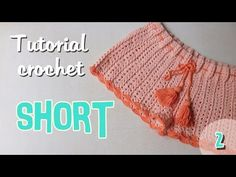 Hello Everyone, in today's video I will be showing you guys how to crochet a high-waisted shorts. Shorts Crochet, Crochet Bikini Pattern, Crochet Skirts, Crochet Diagram, Crochet Clothes, Diy Clothes, Crochet Patterns, Crochet Video, Love Crochet