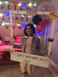Happy Birthday Nicole, 10th Birthday Parties, 12th Birthday, Birthday Party Themes, Stranger Things Theme, Stranger Things Season, Stranger Things Halloween Decorations, Birthdays, Dress Models