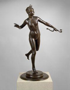 Diana  Frederick William MacMonnies  (American, New York 1863–1937 New York)  Date: 1888–89, cast 1890 Medium: Bronze