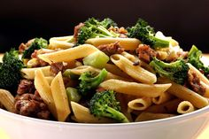 Sausage and Broccoli Pasta Quick, Easy and Delicious! This dish is just as delicious  cold as a salad or warm as a main dish. Talk about versatility!  You can really add almost anything leftover in your fridge to this dish and create variations which make is so versatile! | Creative Elegance Cuisine www.creativeelegancecatering.com and www.creativeelegancecatering.blogspot.com