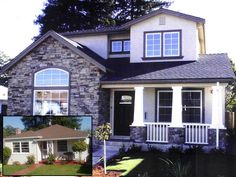 Outdoor on pinterest 253 pins for Second floor addition before and after