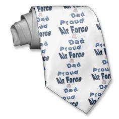 Proud Air Force Dad Tie