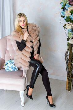 a4bfa77a2f5 Меховой женский жилет из песца от производителя в Украине купить недорого  интернет магазин