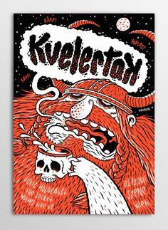 Holy crap I want this - Kvelertak   illustration by Michael Hacker
