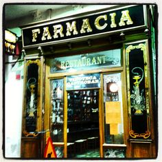 'La Farmacia', wine cellar and restaurant.  El Vendrell, Tarragona, Spain