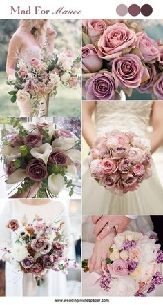 100 Hottest Mauve Wedding Decorations for Your Upcoming Day - Wedding Invites Paper shade of pink bouquets/ mauve spring wedding bouquets