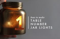 Table Number Jar Lights · Candle Making | CraftGossip.com