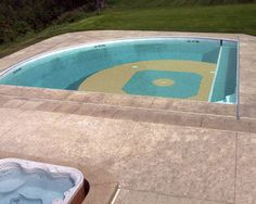 For Ben and Holli's new house...Baseball Pool - LOVE IT!!! Pretty sure this has STEPH written all over it! :)