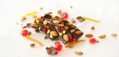 Crunchy nuts and chewy fruits enrobed in chocolate at @Mandy Bryant Dewey Seasons Hotel Beirut