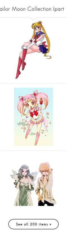 """""""Sailor Moon Collection (part 1)"""" by grell-loves-bassy ❤ liked on Polyvore featuring home, home decor, sailor moon, usagi, beauty products, anime, pictures, cartoons, jewelry and necklaces"""
