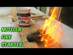 Nutella Fire Starter - Survival Hack #55 - http://survivinghub.com/nutella-fire-starter-survival-hack-55/